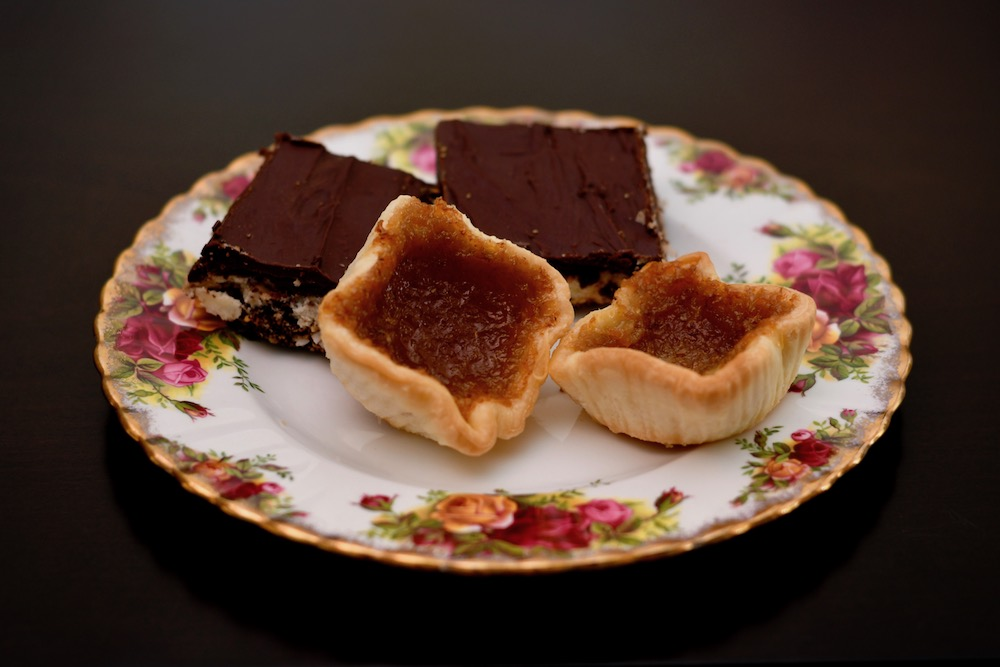 Learn how to make Nanaimo Bars and Butter Tarts.