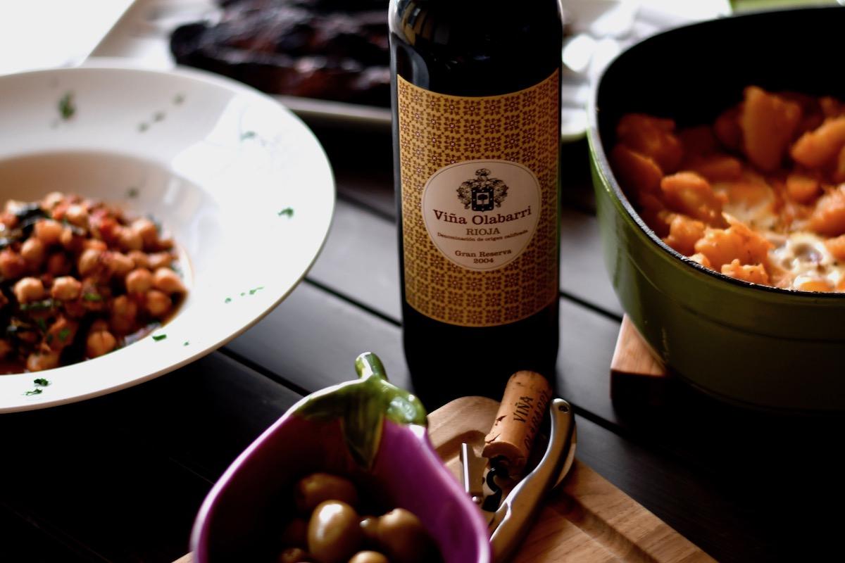 Vina Olabarri Spanish Tempranillo wine pairs perfectly with Tapas.