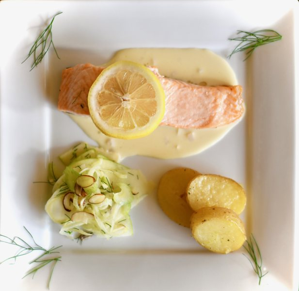 Read how to make Salmon with Beurre Blanc Sauce.