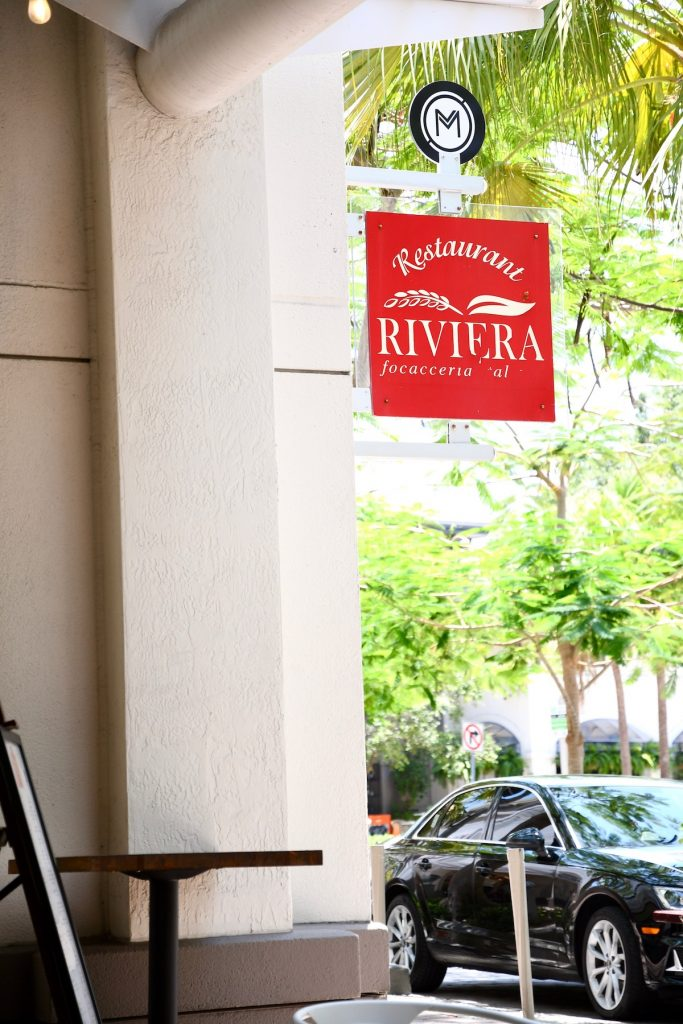Street view of Riviera Focacceria Italiana located at the Shops at Midtown Miami. © Author