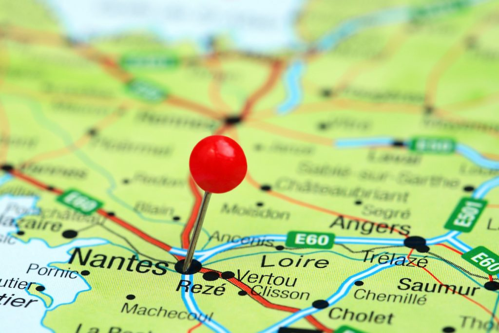 Pays Nantais (Nantes) is located in the western Loire Valley.