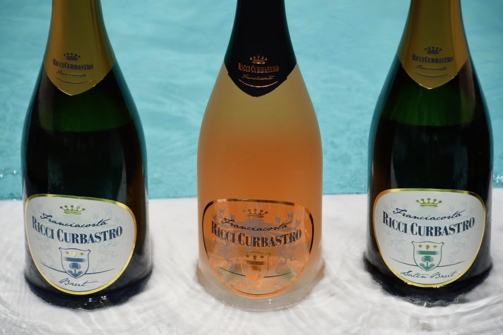 Poolside with Ricci Curbastro Franciacorta DOCG wines.