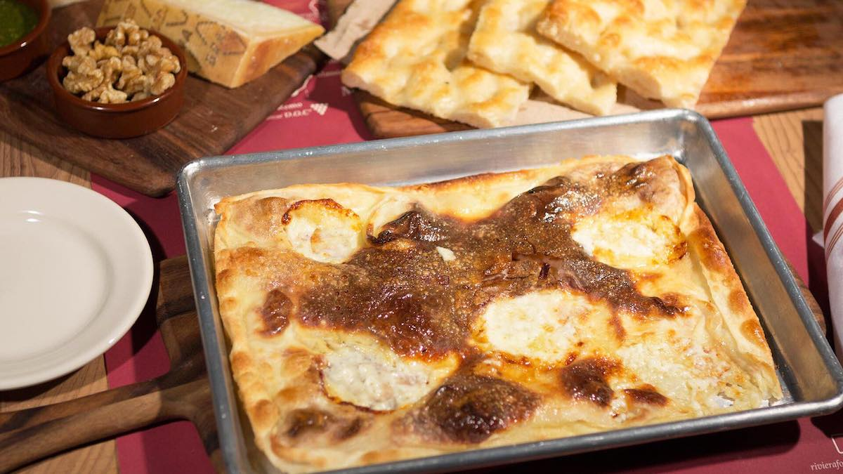 Focaccia con Formaggio made with Stracchino Cheese